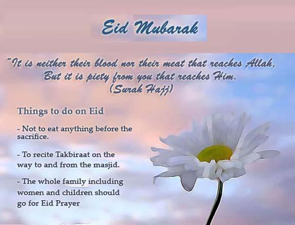 Eid is the holy festival of Muslims.
