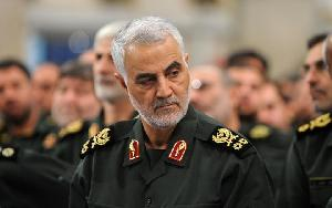 Commander of Iran's Quds Force, Major General Qassem Solei...